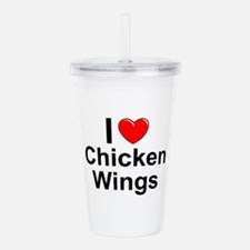 Chicken Wings Acrylic Double-wall Tumbler