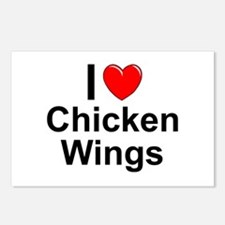 Chicken Wings Postcards (Package of 8)