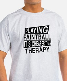Awesome Paint Ball Player Designs T-Shirt