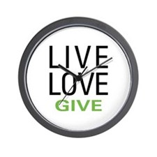 Live Love Give Wall Clock
