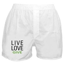 Live Love Give Boxer Shorts