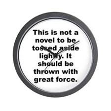 Parker quote Wall Clock
