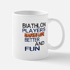 Biathlon Players Makes Life Better And Mug