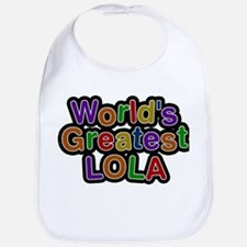 Worlds Greatest Lola Baby Bib