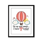 Seventh 7th Birthday Hot Air Balloon Framed Panel