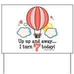 Seventh 7th Birthday Hot Air Balloon Yard Sign