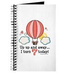 Seventh 7th Birthday Hot Air Balloon Journal