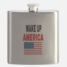 WAKE UP AMERICA Flask