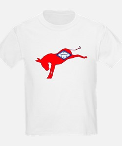 Arkansas Democrat Donkey Flag T-Shirt