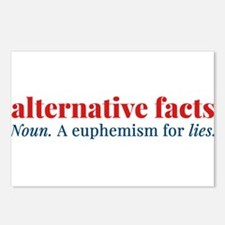 Alternative facts: a euph Postcards (Package of 8)