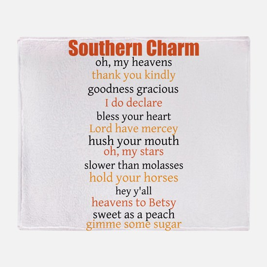 Southern Charm Throw Blanket