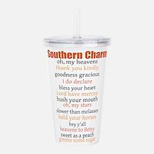 Southern Charm Acrylic Double-wall Tumbler