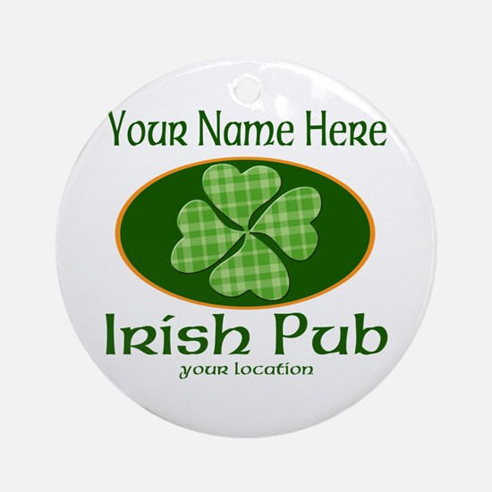 Irish Pub Round Ornament