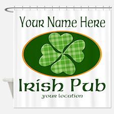 Irish Pub Shower Curtain