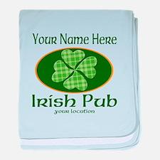 Irish Pub baby blanket