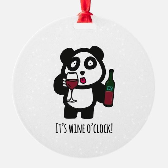 Drinking Panda - It's wine o&#3 Ornament