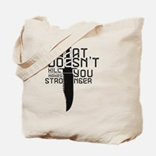 Funny Bear doesnt kill you Tote Bag