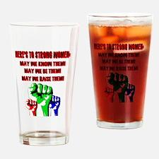 Fist women Drinking Glass