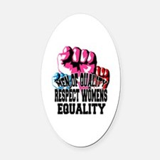Funny Strong girls Oval Car Magnet