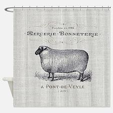 farm animal sheep farmhouse Shower Curtain