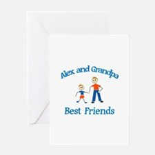 Alex & Grandpa - Best Friends Greeting Card