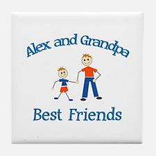 Alex & Grandpa - Best Friends Tile Coaster