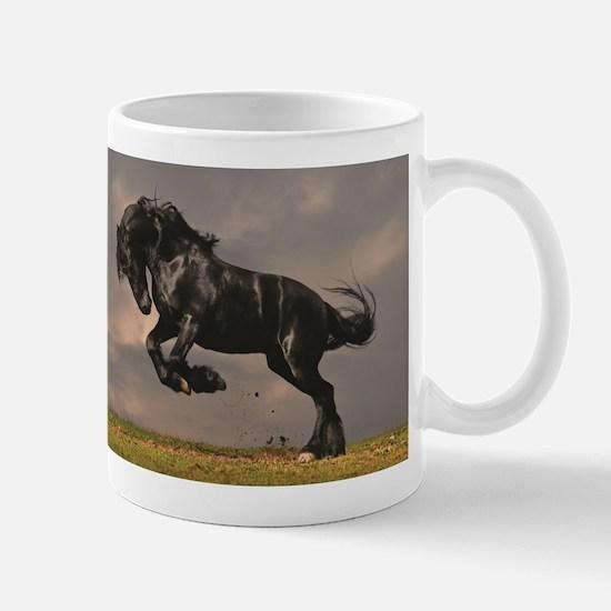 Beautiful horse stallion horses sunset Mugs