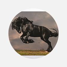 "Beautiful horse stallion ho 3.5"" Button (100 pack)"