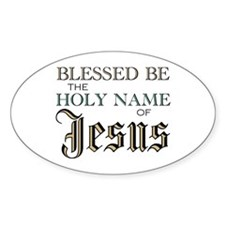 Holy Name of Jesus Oval Decal