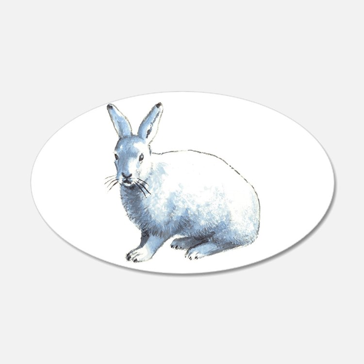 Arctic Snow Hare Wall Decal
