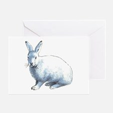 Arctic Snow Hare Card Greeting Cards