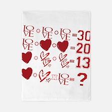 Valentine's Day Love Equation Twin Duvet