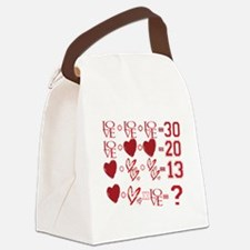 Valentine's Day Love Equation Canvas Lunch Bag