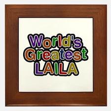 World's Greatest Laila Framed Tile