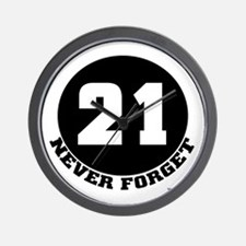 21 (NEVER FORGET) Wall Clock