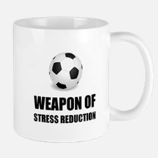Weapon of Stress Reduction Soccer Mugs