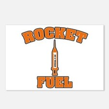 Rocket Fuel Steroids Burnt Orange Postcards (Packa