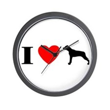 I Heart Catahoula Wall Clock