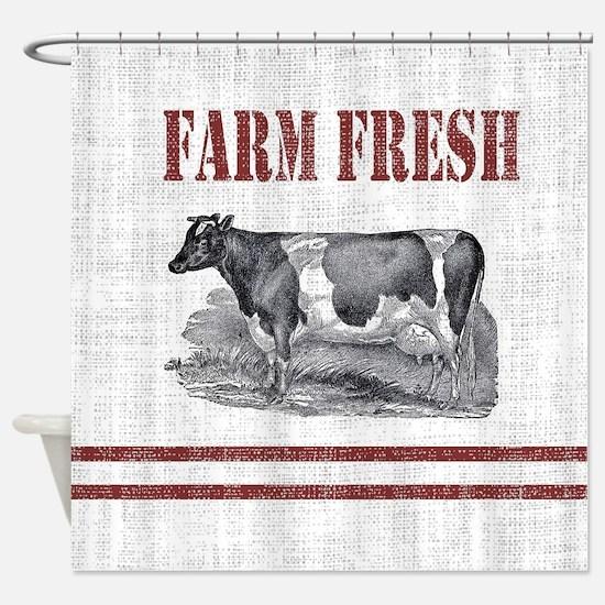 Cute Farm Shower Curtain