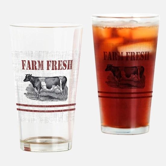 Unique Farm Drinking Glass