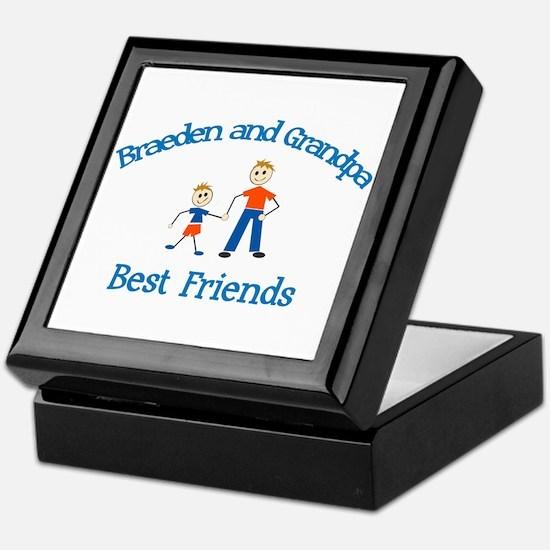 Braeden & Grandpa - Best Frie Keepsake Box