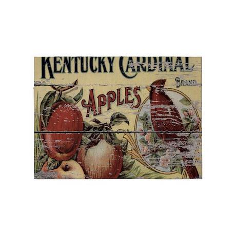 Country Vintage Apple Cardinals 5u0027x7u0027Area Rug