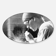 Vintage Woman TIG Welder Decal