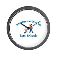 Brendan & Grandpa - Best Frie Wall Clock