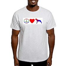 Peace, Love, Catahoula Cur T-Shirt