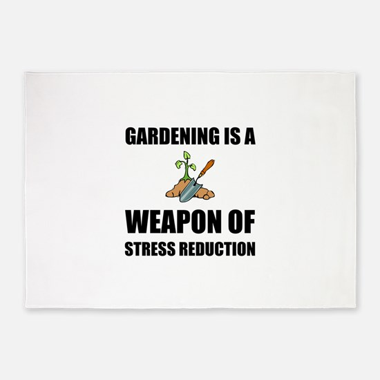 Weapon of Stress Reduction Gardening 5'x7'Area Rug
