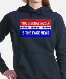 Liberal Fake News Women's Hooded Sweatshirt