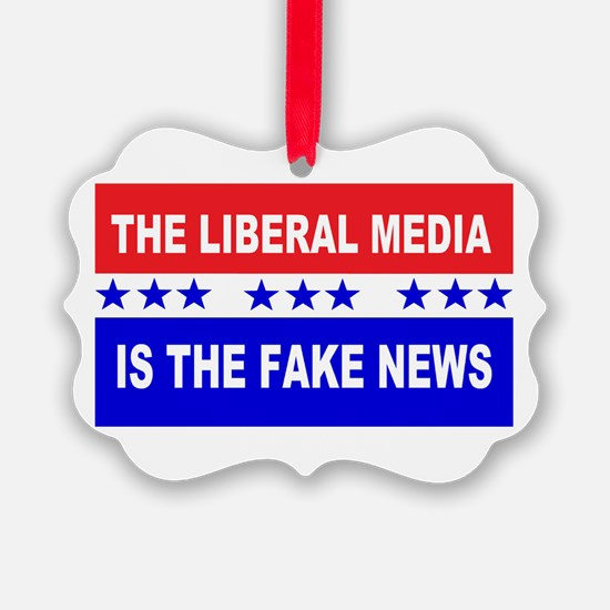 Liberal Fake News Ornament