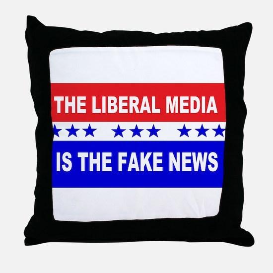 Liberal Fake News Throw Pillow