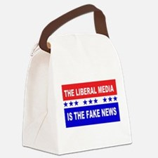 Liberal Fake News Canvas Lunch Bag